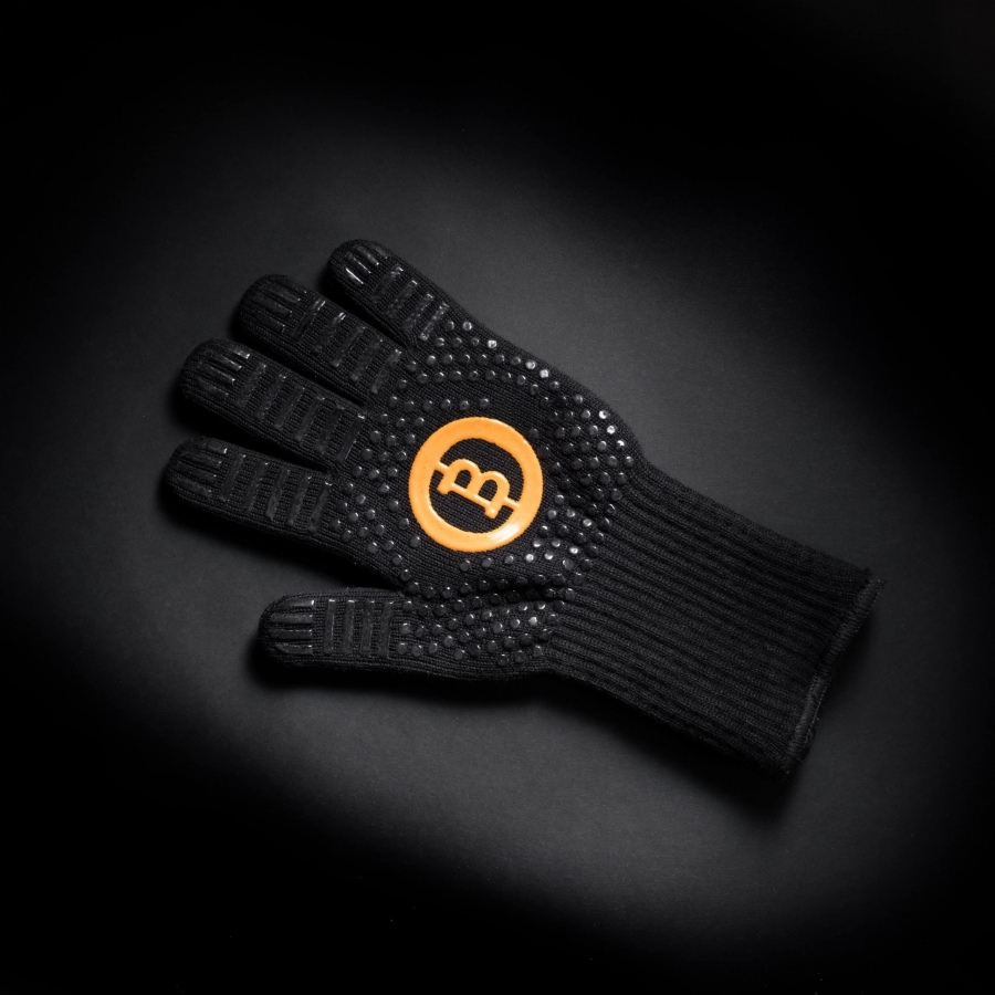 Grill glove made of aramid and silicone